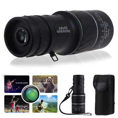 Day&Night Vision 30x52 HD Optical Monocular Hunting Camping Hiking Telescope Kit