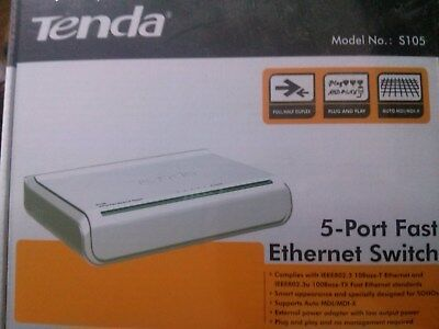 Tenda  5  Port  Fast  Ethernet  Switch   Discounted  Product   Brand New