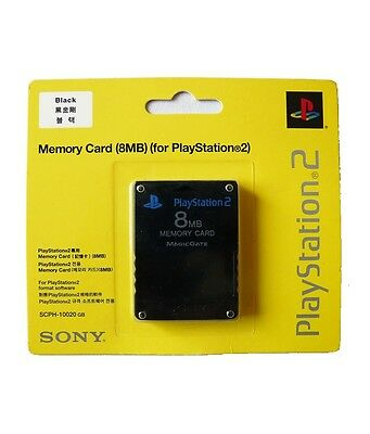 Sony PlayStation 2 PS2 Memory Card 8MB BRAND NEW & FACTORY SEALED