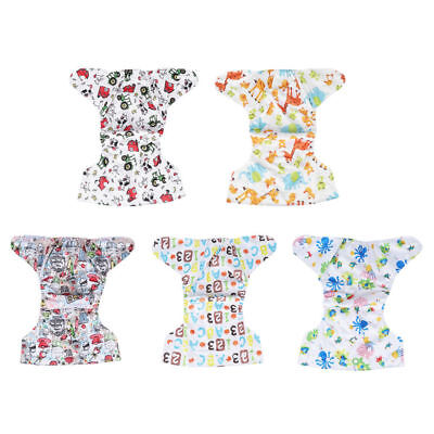 Newborn Baby Adjustable Washable Reusable Cotton Nappy Cover Soft Cloth Diaper