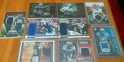 Nine Card Nfl Jersey Relic Lot