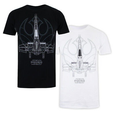Mens Star Wars The Last Jedi X WING LINES T-Shirt Licensed