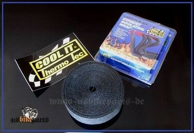 15' exhaust wrap black heat protective tape Thermo Thermo-Tec original band