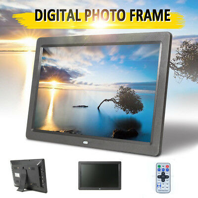 2018 NEW HD 12'' LED Digital Photo Frame Picture Alarm Clock MP4 Movie Player
