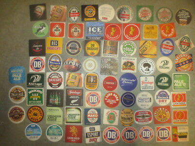 74 different New Zealand Breweries ,,collectable BEER COASTERS