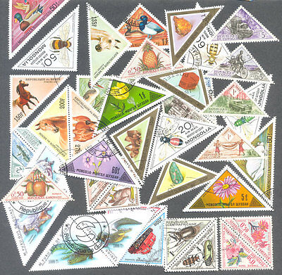 Triangular stamps 100 all different collection