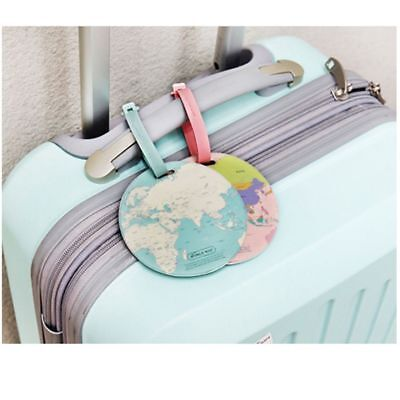 Silicone Baggage Holder Address World Map Suitcase Label Bag Tags Boarding ID
