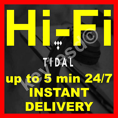 TIDAL HI-FI FAMILY Plan | 6 USERS | 4 Months GURANTEED | INSTANT 5 min DELIVERY