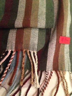 Pringle Of Scotland Wool Striped Scarf