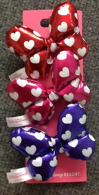 Tokyo Disney Resort Minnie Mouse Hair Bows Pink, Red, Purple, Brand New