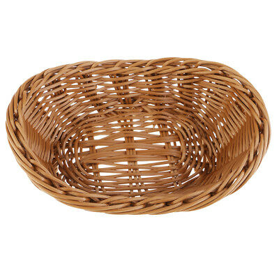 Creative Imitate Rattan Bread Basket Yuanbao Plastic Basket Home Decoration
