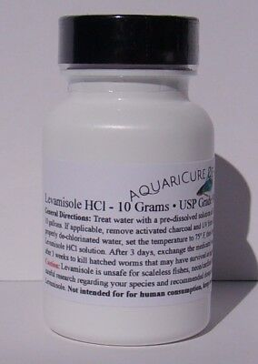 10 Grams Pure Levamisole HCl Powder Fish & Aquarium De-Wormer Parasite Medicine