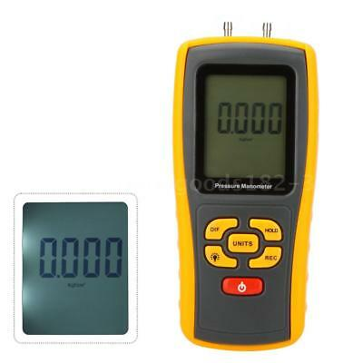 GM510 Handheld Digital Manometer Differential Pressure Meter Gauge Q9L3