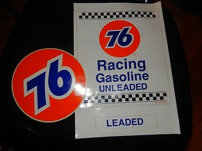 VTG NOS Original UNION 76 Racing Gas Pump Sign Decals Nascar Stock Auto Race Car