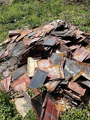 Antique tin shingles  150 yr old Victorian house architectural vintage tin