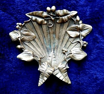 A good quality antique French bronze Lady's boudoir dish