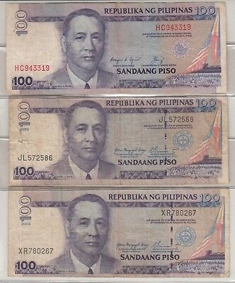 Lot of 6 Philippines Paper Money