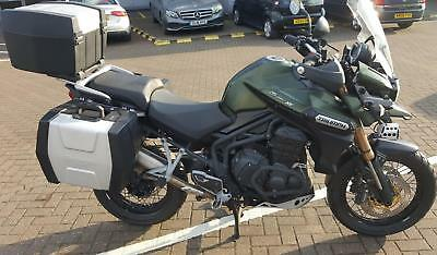 2013 13 Triumph Tiger Explorer Xc 1215 Adventure Spoked Model, Full Hard Luggage