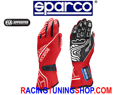 Handschuhe Auto Sparco Runde RG-5 genehmigt fia Racing gloves Handschuhe red