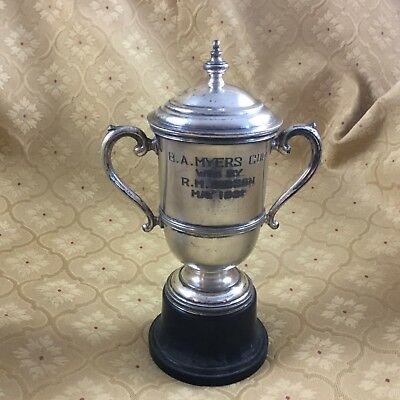 Vintage Trophy Silver Plated Art Deco Gibson Myers 1931
