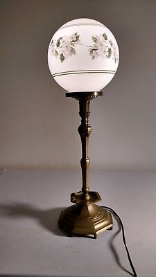 Early Victorian Solid Brass Lamp for glass shade (E. F. Cauldwell?)
