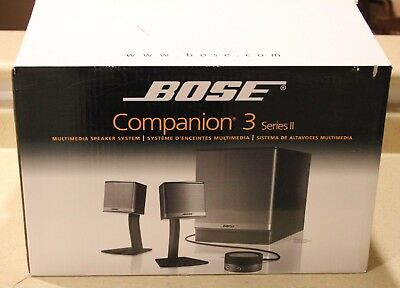 Bose Companion 3 Series II Computer Multimedia Speaker System - New in box