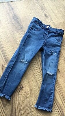 girls river island ripped jeans size 18-24 months ✨