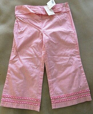 NEW NWT Janie and Jack Girls Pants Size 6 Summer Boardwalk 100% Cotton