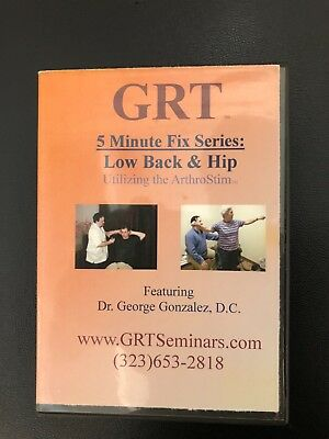 GRT Quantum Neurology Applied Kinesiology physical therapy Low back & Hip DVD