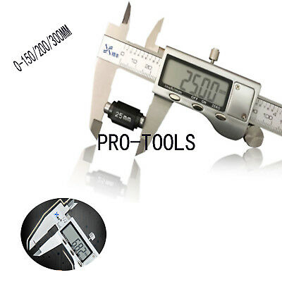 150/200/300mm Electronic Digital Vernier Caliper Stainless Steel Micrometer