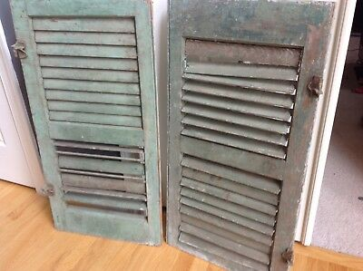 Pair Antique Wood Shutters Late 19th Cent from Historic Texas Home