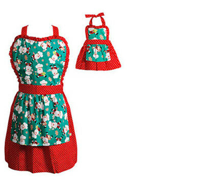 Dollie And Me Girl And Doll Matching Christmas Apron Clothes Set