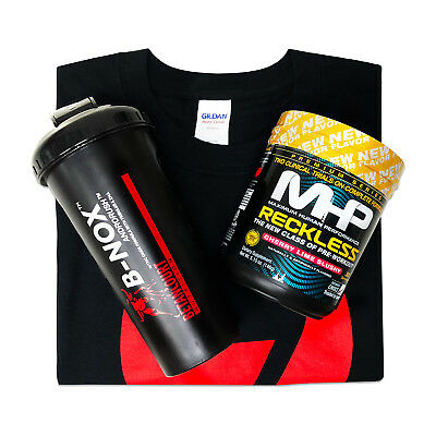 MHP RECKLESS 30 Servings Pre-Workout with T-Shirt and a Shaker - Pick Flavors
