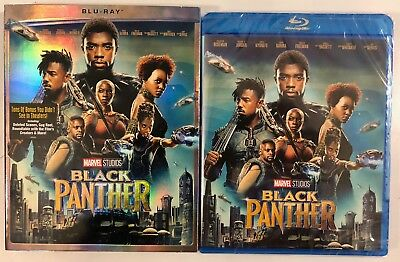 New Sealed Marvel Black Panther Blu Ray + Slipcover Sleeve Free World Shipping