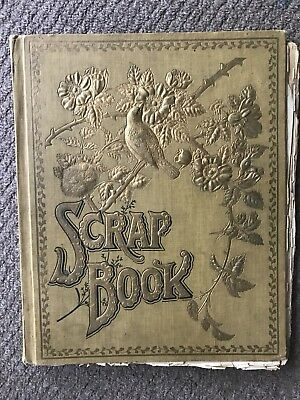 Antique Victorian Scrap Book Etude Sheet Music Personal Letter Vintage Old