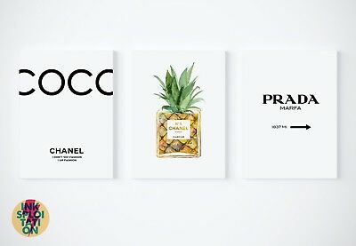 Coco Chanel Pineapple Print | Prada Marfa | Coco Chanel Quote SET
