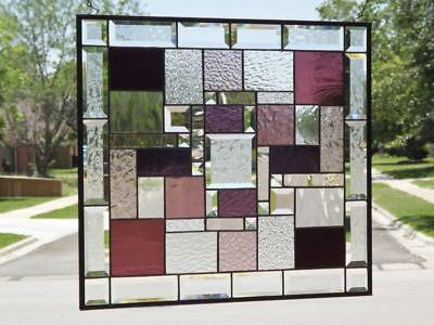 "•Time for Wine • Beveled Stained Glass Window Panel • 20 ½"" x 22 ½"" (52x57Cm)"