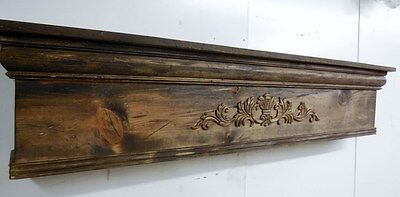 Rustic Fireplace Mantle, Distressed Mantle, Primitive Mantle,48 inch mantle