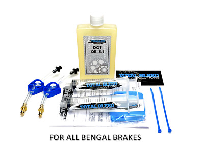 TBS Bengal Brake Bleed Kit with DOT fluid. For Helix 4 5 7.5 X B L and MORE!