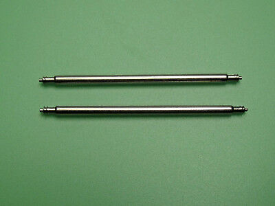 2x EXTRA STRONG 2mm THICK WATCH SPRING BARS PINS STAINLESS STEEL Lug Width 24mm