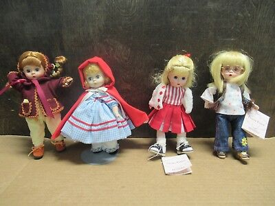 "Lot Of (4) Madame Alexander 8"" Dolls 42175/51845/51745/unsure Of Last Pre-Owned"