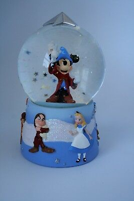 Disney Mickey Mouse SNOW GLOBE Sorcerer's Apprentice Fantasia & other characters