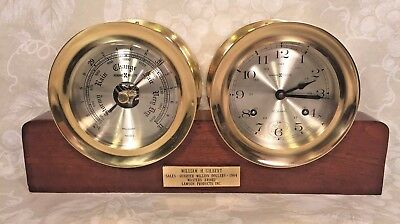 Howard Miller Clock & Barometer Set with Wood Base Running & Striking Chelsea?