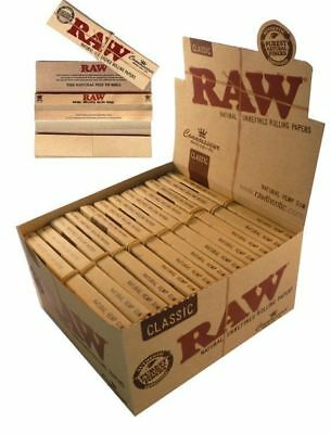 Raw Classic Connoisseur King Size Slim Rolling Smoking Paper & Tips 1 2 3 12 24