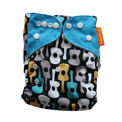 New Guitars Pocket One-Size Cloth Diaper Happy Flute w/ Snaps USA Seller