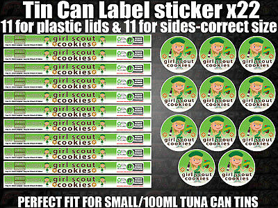 Girl Scout Cookies Cali Tin Labels Stickers Marijuana weed RX Medical Cannabis