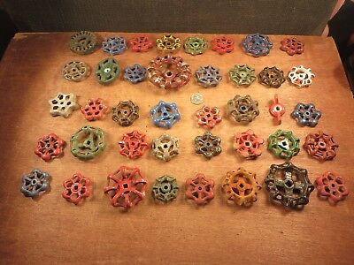 40 Vintage Valve Handles Water Faucet Knobs STEAMPUNK Industrial Arts & Crafts