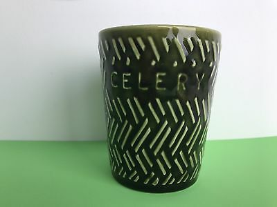 Vintage Lord Nelson Green Ceramic Celery Pot