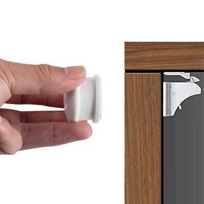 Magnetic Baby Safety Cabinet Locks with 3M Adhesive No Drilling No Tools or Baby