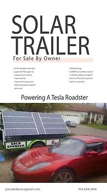 Solar Generator Utility Trailer - Off Grid / Emergency / Green / Tesla / EV